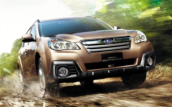 Fondos de pantalla Coche Subaru Legacy marrón SUV