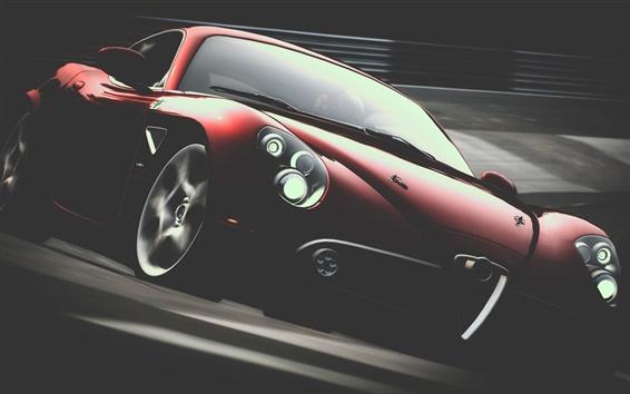 Fondos de pantalla Alfa Romeo vista frontal supercar rojo