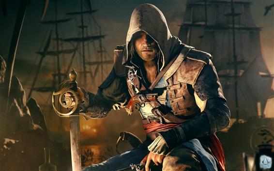 Wallpaper Assassin S Creed Iv Black Flag Edward 1920x1200 Hd