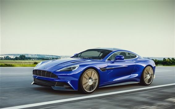 Wallpaper Aston Martin 2013 blue car