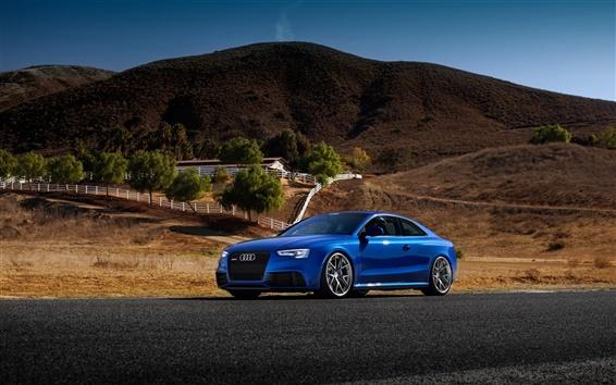 Обои Audi RS5 синий автомобиль