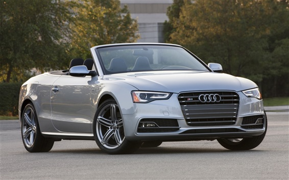 Wallpaper Audi S5 Cabriolet car front view