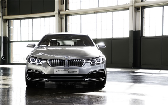 Wallpaper BMW 4 Series Coupe concept car front view