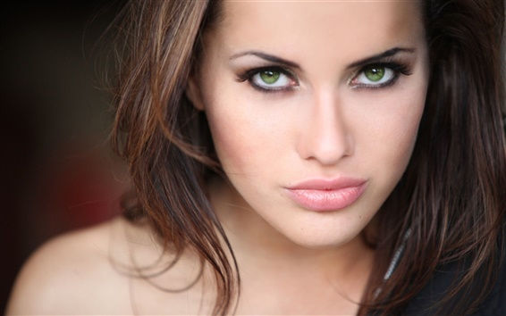Wallpaper Green eyes girl