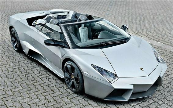 Wallpaper Lamborghini Reventon supercar top view