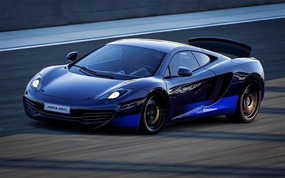 Обои McLaren MP4-12C скорость синий суперкар