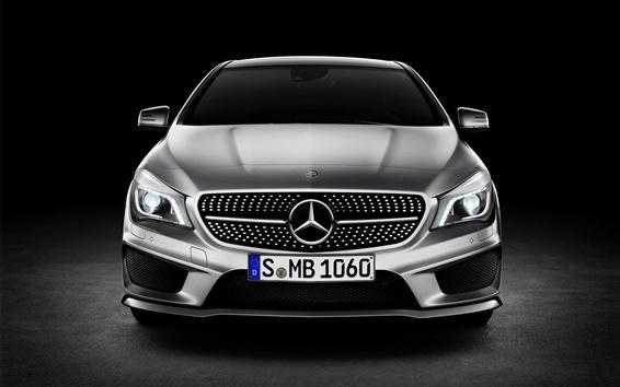 Fond d'écran Mercedes-Benz Classe CLA vue avant de la voiture