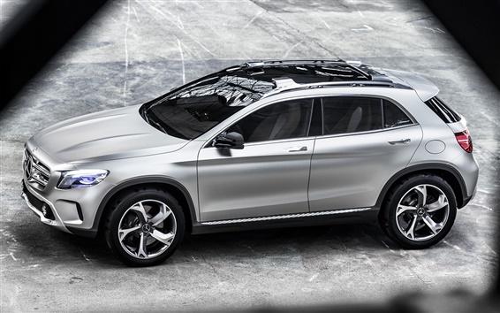 Fondos de pantalla Opinión superior del coche concepto plata Mercedes-Benz GLA