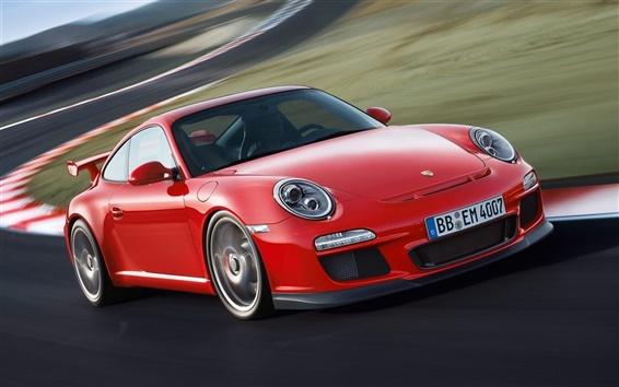 Обои Porsche 911 GT3 997 красный суперкар