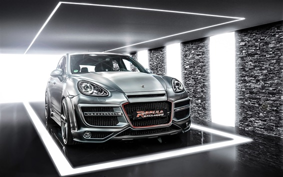 Wallpaper Porsche Cayenne CT Exclusive silver car
