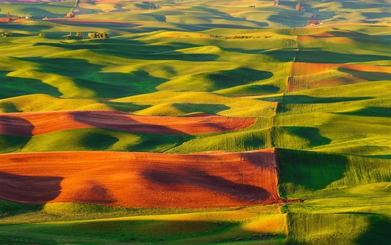 Wallpaper Steptoe Butte State Park, United States, valle, fields, beautiful scenery