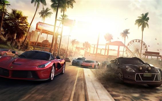 Fondos de pantalla El juego del equipo PC, Ferrari, Nissan, Lamborghini