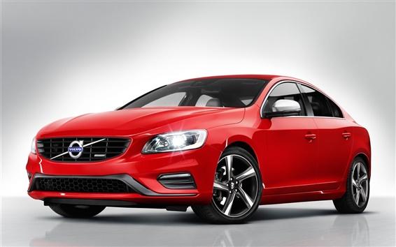 Обои Volvo S60 R-Design красный автомобиль