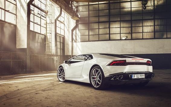 Обои 2014 Lamborghini Huracan LP610-4 суперкар, вид сзади