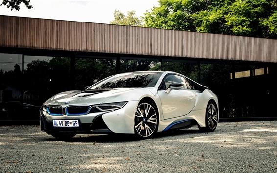 Wallpaper 2015 BMW i8 ZA-spec car