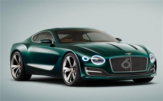 Обои 2015 Bentley EXP зеленый суперкар