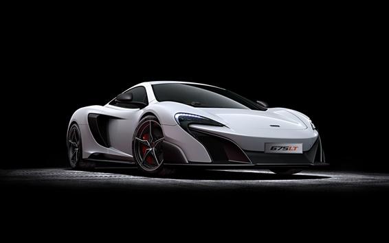 Wallpaper 2015 McLaren 675LT white supercar