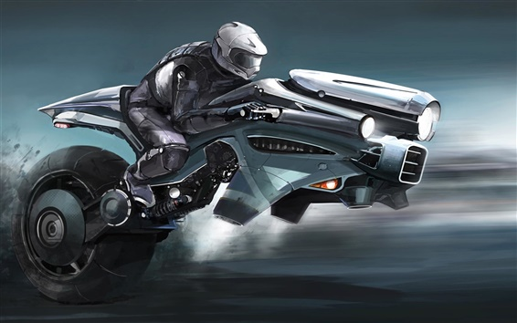 Wallpaper Art pictures, fantasy, motorcycle