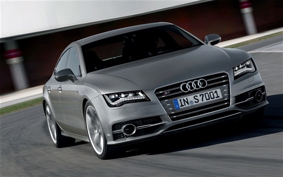 Wallpaper Audi S7 gray car front view