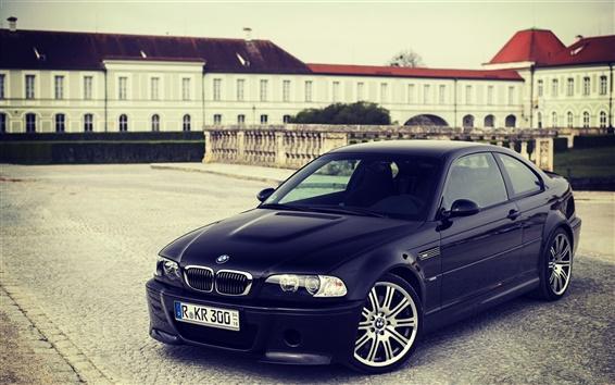 Fond d'écran BMW M3 E46 voiture noire