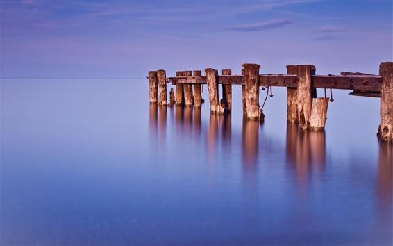 Wallpaper Canada, Ontario, lake, dock, water, blue