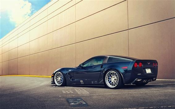 Wallpaper Chevrolet Corvette ZR1 blue car