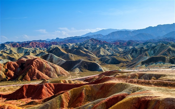 Wallpaper China, Zhangye Danxia, mountains