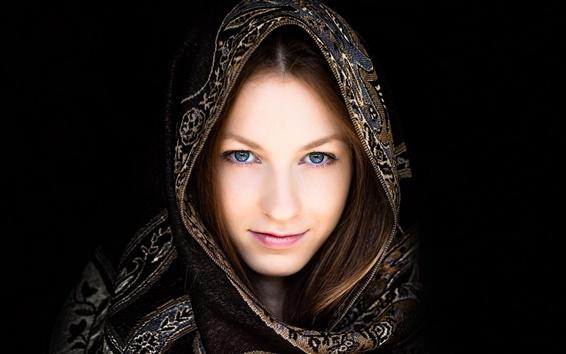 Wallpaper Girl, portrait, headdress