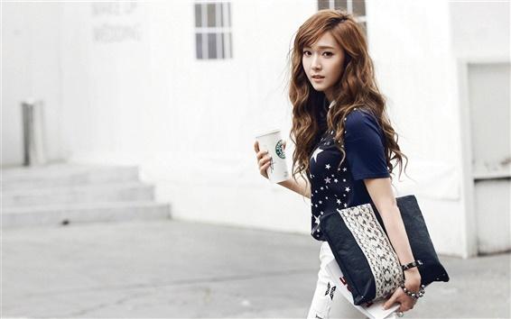 Fondos de pantalla Girls Generation, Jessica, café