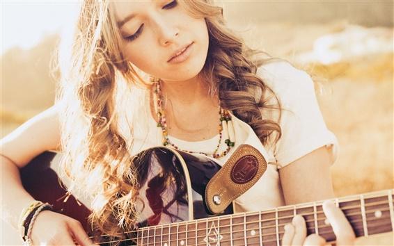 Wallpaper Guitar girl, music