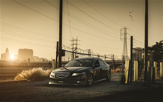 Wallpaper Honda Accord Acura black car