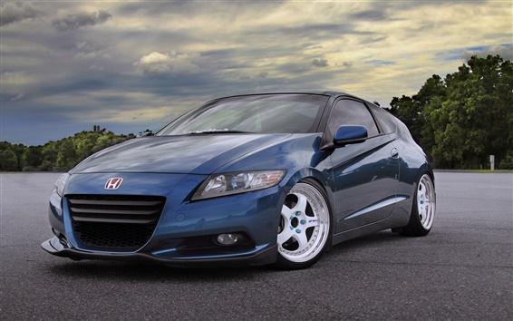 Обои Honda CR-Z синий автомобиль