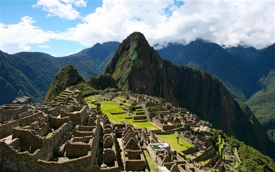 Wallpaper Peru, Machu Picchu, ancient city, hills