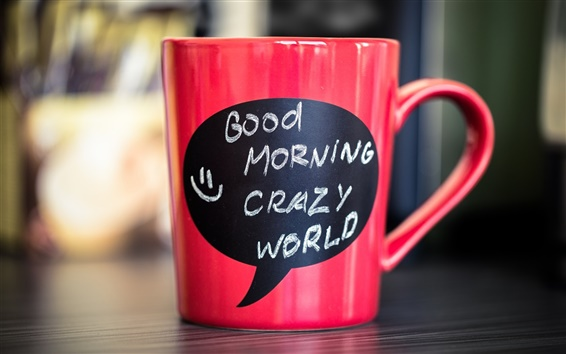 Wallpaper Red mug, cup