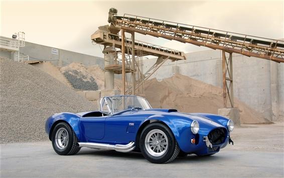 Wallpaper 1963 Shelby Cobra CSX 4000 427 SC blue car