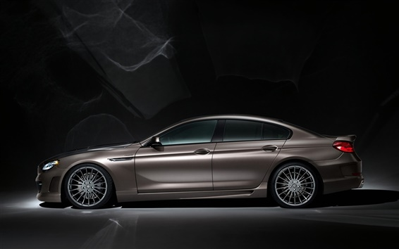Wallpaper BMW M6 Hamann brown car side view