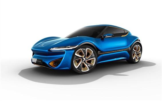 Wallpaper Blue concept supercar