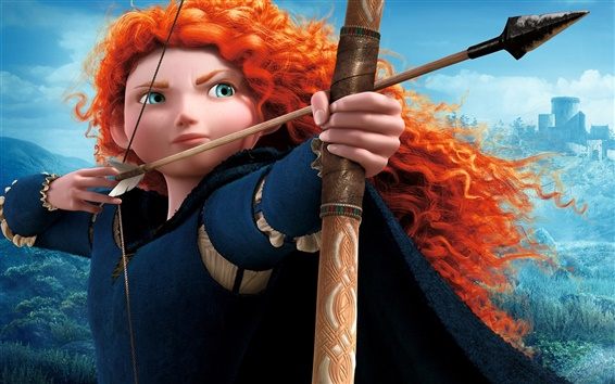 Fondos de pantalla Brave, película de dibujos animados, Mérida, arquero