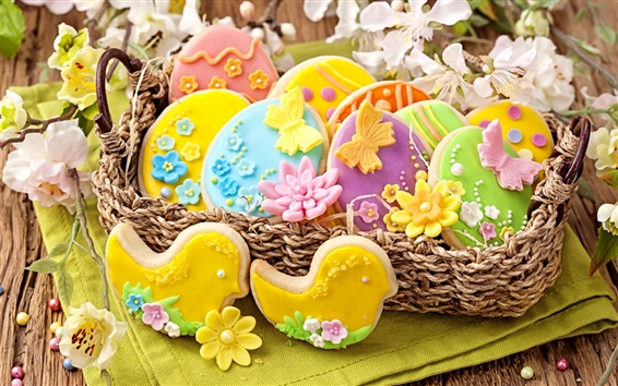 Wallpaper Easter, cookies, pastries, food