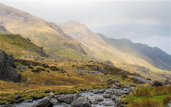 Fond d'écran Grande-Bretagne, Pays de Galles, Snowdonia, Parc national, les montagnes