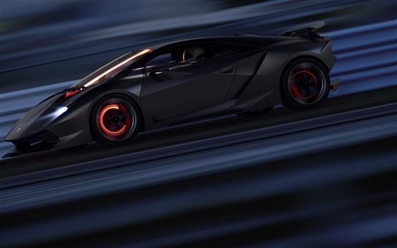 Wallpaper Lamborghini Sesto Elemento supercar speed