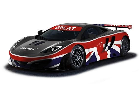 Wallpaper McLaren MP4-12C GT3 racing car