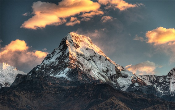 Wallpaper Poon Hill, Nepal, mountain, snow