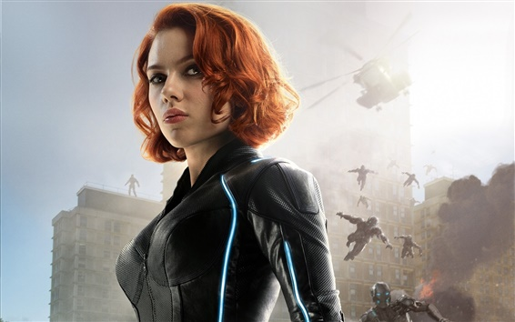 Wallpaper Scarlett Johansson, Avengers: Age of Ultron