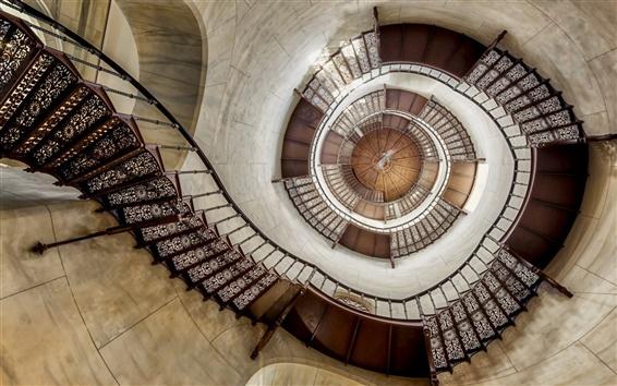 Wallpaper Stairs, walls, spiral
