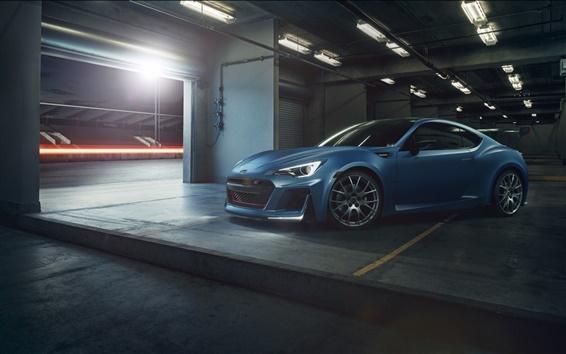 Обои Subaru BRZ синий автомобиль