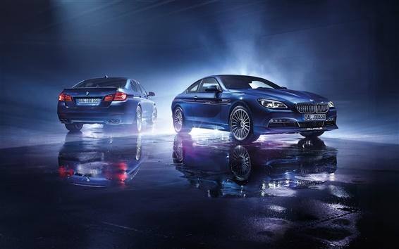 Обои 2015 Alpina BMW синие автомобили
