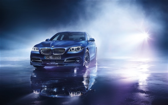 Wallpaper 2015 BMW Alpina B5 limousine, blue car