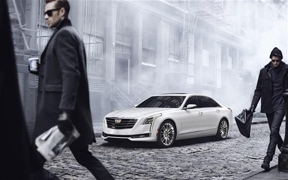 Обои 2015 Cadillac CT6 белый автомобиль
