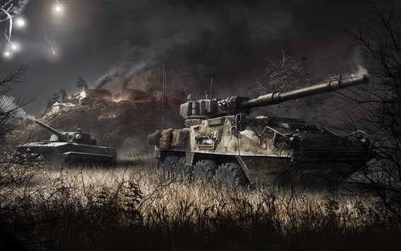 Wallpaper Armored Warfare, tank, PC game
